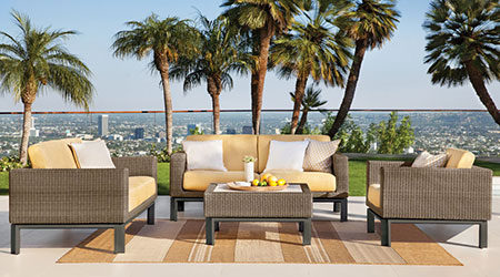Brown Jordan Wicker Outdoor Patio Furniture