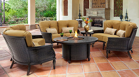 Castelle Aluminum Outdoor Patio Furniture - Castelle® Aluminum Outdoor Furniture - Patio Land USA