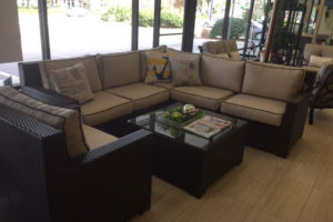 All Weather Wicker Sectional and Club Chair