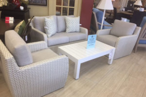 Zen All Weather Wicker Loveseat, 2 Chairs, and Coffee Table