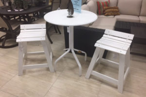 Kingston Marine Grade Polymer Balcony Table and 2 Stools