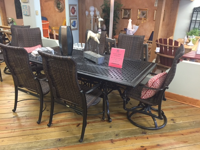Bel Aire 7 Piece Woven Dining Set